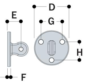 LM58 - Male Wall Plate
