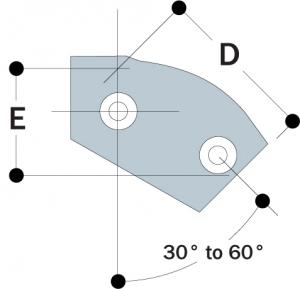 29 - 30° to 60° Single Socket Tee