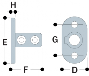 62 - Standard Railing Flange