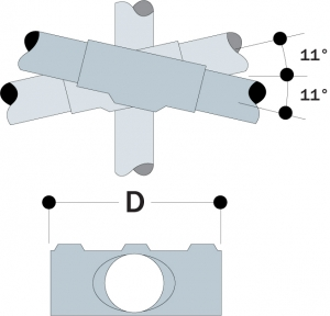 89 - Two Socket Angle Cross