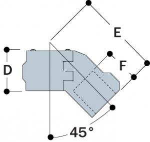 A12 - Split 45° Single Socket Tee