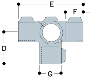 A35 - Split Three Socket Cross
