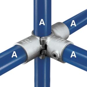 A35 - Split Three Socket Cross