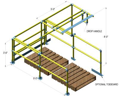 double depth pallet gate size