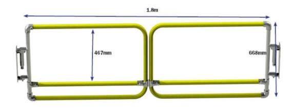 Double Width Self Closing Gates Dimensions