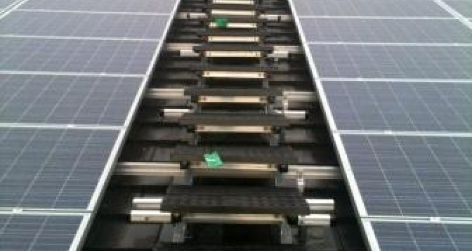 KEE WALK provides safe access to solar panels