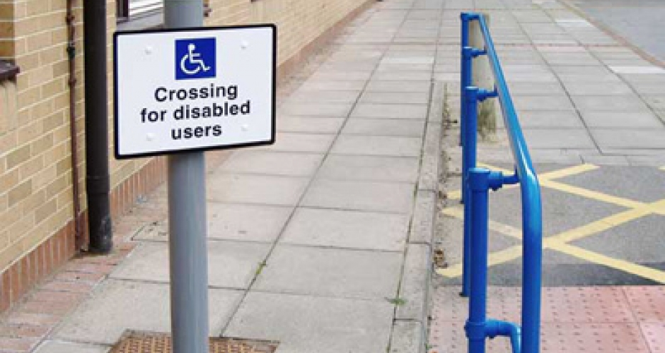 Disabled access handrail