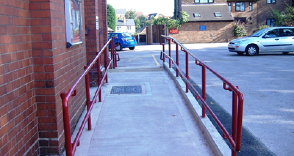 Handrails for disabled access