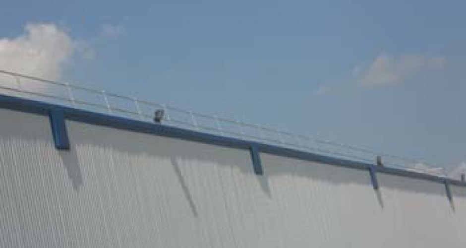 Roof edge protection for for metal profile and standing seam roofs