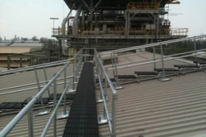 Fall Protection Solutions for a Gas Turbine Power Plant