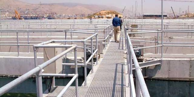 Kee Klamp Guardrails at the Psyttalia Waste Water Treatment Plant
