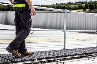Guardrail-on roof-top-walkway